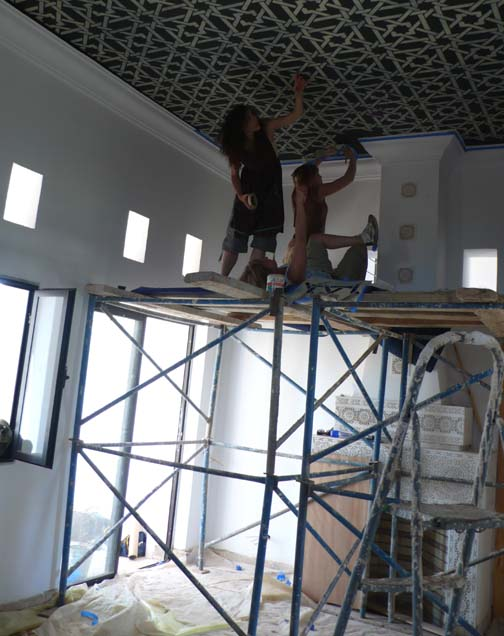 Inlay ceiling in action