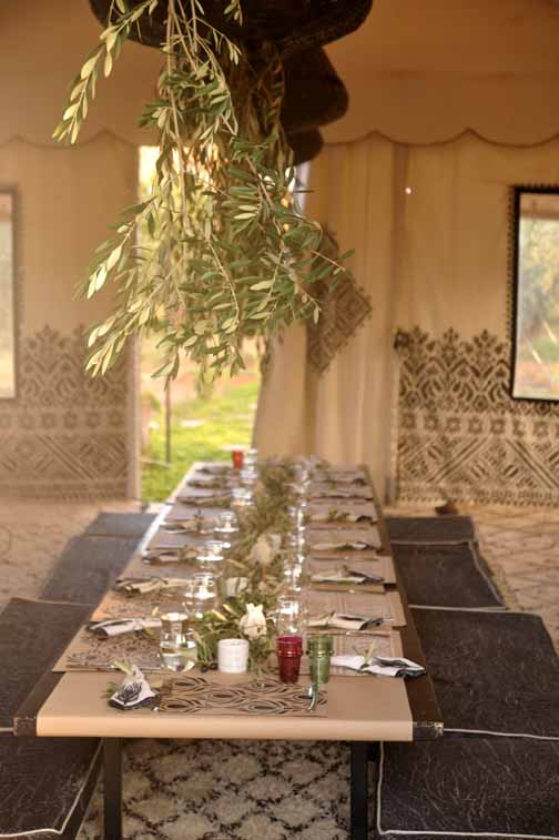 My Marrakesh blog Thanksgiving table setting in the tent