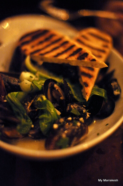 Mussels at August Restaurant by My Marrakesh