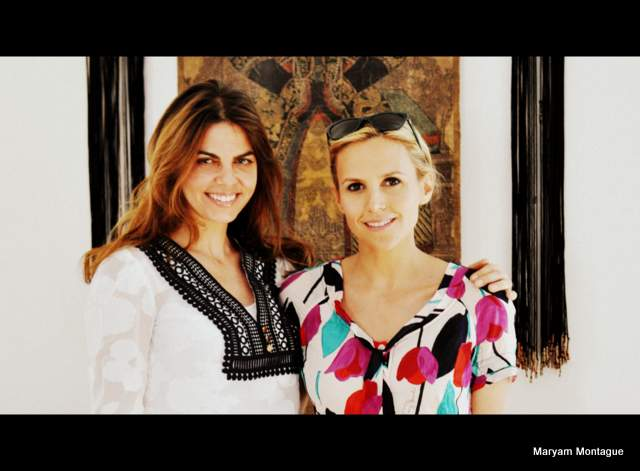 Maryam Montague and Tory Burch