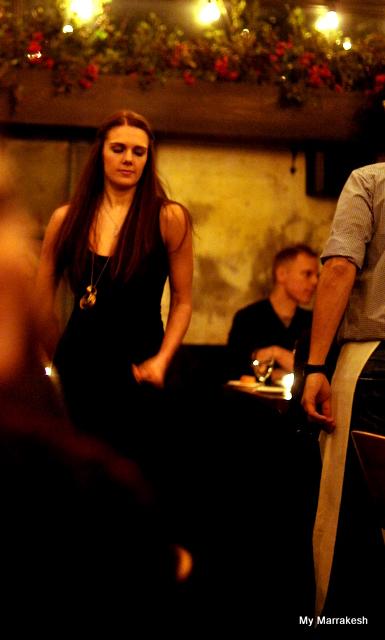 Beautiful girl at August Restaurant in Manhattan by My Marrakesh