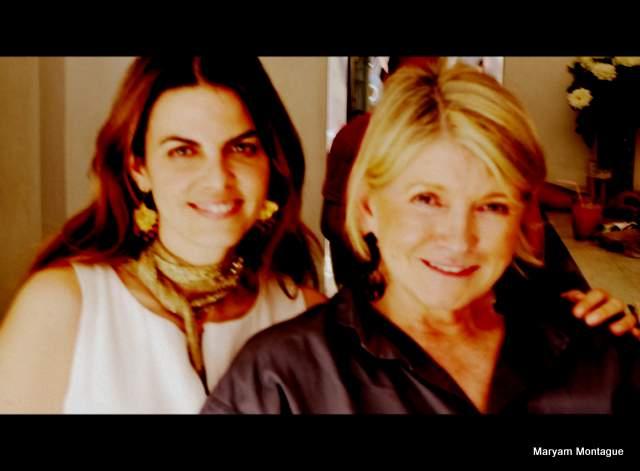 Martha Stewart and Maryam Montague