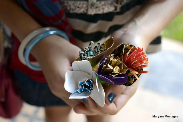 Duct tape flowers My Marrakesh blog