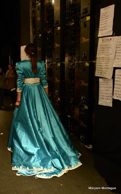 Maryam Montague backstage Caftan 2013-5