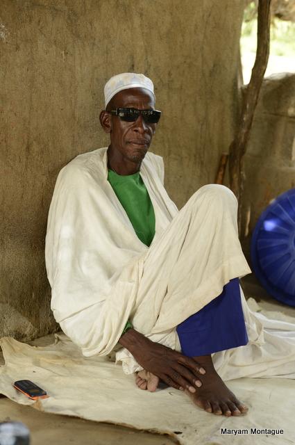 Malian village chief by Maryam Montague