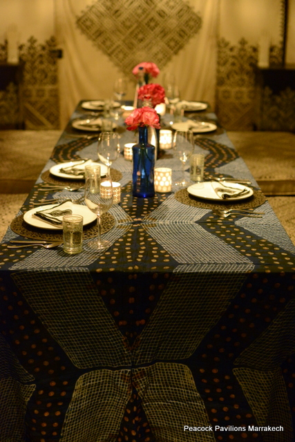 Moroccan table setting at Peacock Pavilions 6