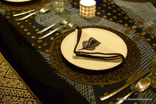 Moroccan table setting at Peacock Pavilions 3