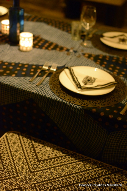 Moroccan table setting at Peacock Pavilions 4