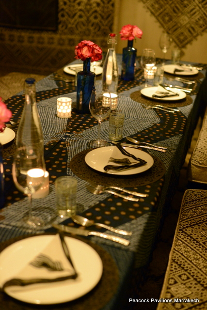 Moroccan table setting at Peacock Pavilions 5
