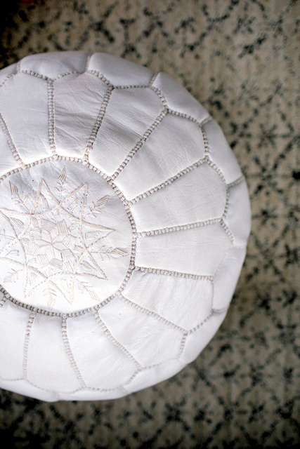 Pouf & carpet from M.Montague for Raven & Lily