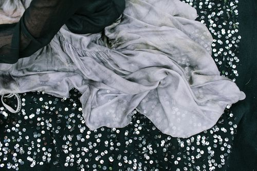 Black sequined wedding blanket